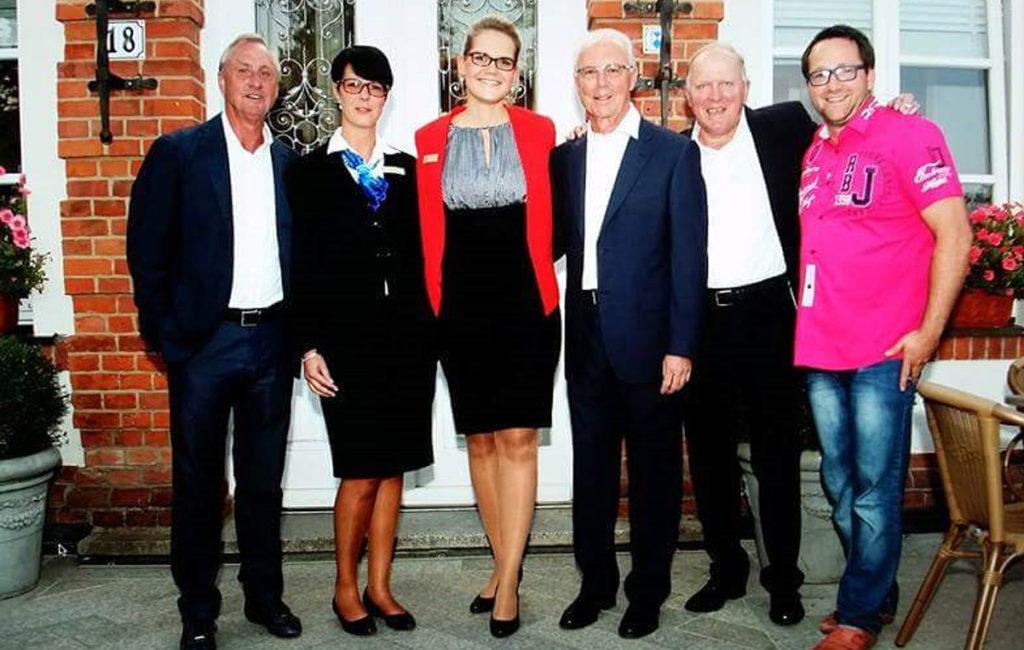Franz Beckenbauer und Johann Cryff